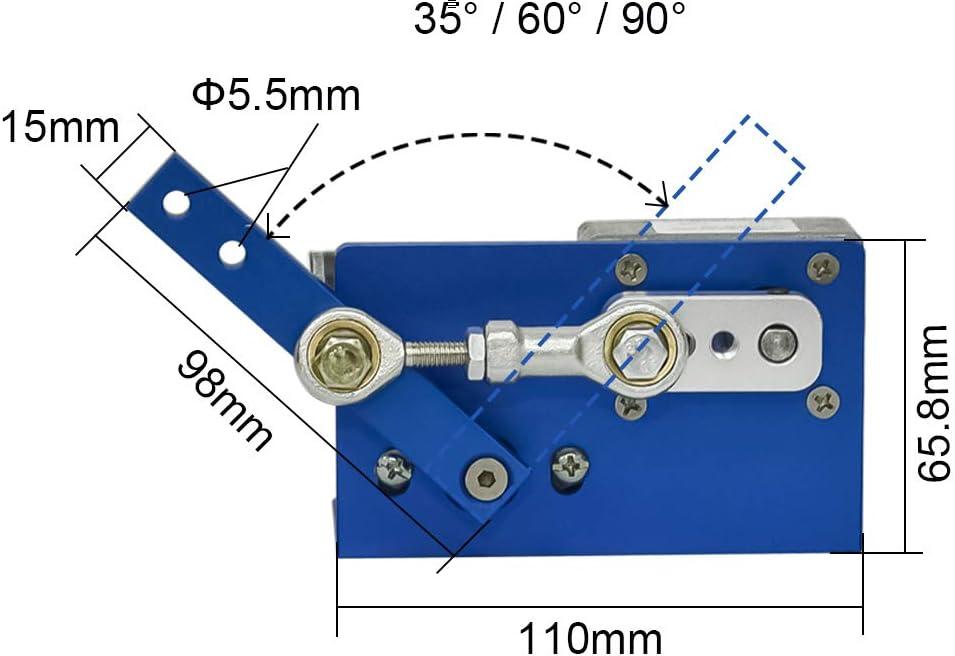 Design AZSSMUK Motore di trasmissione DC 12 V 24 V Motore DC 35 60 90 Degress con spazzola per fai da te Vobulatore automatico