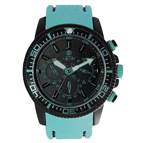 Relojes Calgary Mazzini, Reloj depotivo para Mujer, Correa Turquesa de Silicona, Esfera Negra: Amazon.es: Relojes
