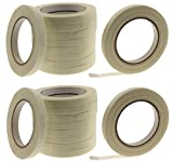 20pk of 1/2'' in Fiberglass Reinforced Packing Filament Strapping Tape 4.3 Mil Thickness 125 lb Break .5 inch 12 MM x 60 yd
