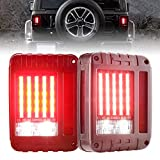 Liteway JK LED tail lights Brake Reverse Turn Signal Light for 2007-2016 Jeep Wrangler JK Back Up Running Lights Rear Parking Stop Light 2 Pack