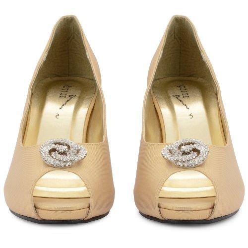 Footwear Sensation - Sandalias de vestir de sintético para mujer dorado - dorado
