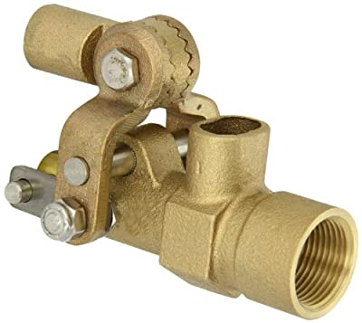 "Robert Manufacturing RF605T High Turbo Series Bob Red Brass Float Valve, 3/4"" NPT Female Inlet x Free Flow Outlet, 27 gpm at 85 psi Pressure from Control Devices"