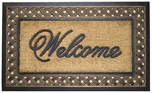 A1 Home Collections Rubber & Coir Brush Doormat, Large Size: 23