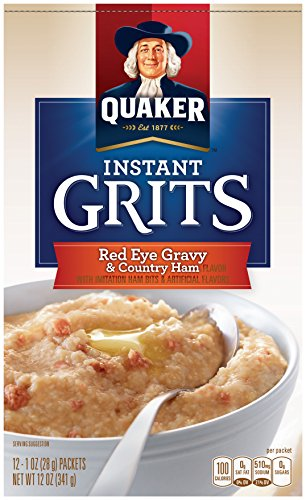 Quaker Instant Grits, Red Eye Gravy and Country Ham, 12 Packets Per Box (Pack of 12 ()