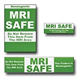 Green MRI Safe Labels 25 pack 6 large, 7 medium, 12 small