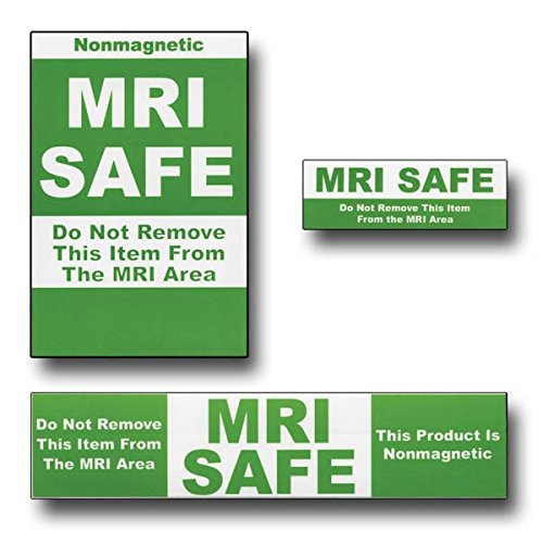 Green MRI Safe Labels 25 pack 6 large, 7 medium, 12 small by CeilBlue (Image #1)