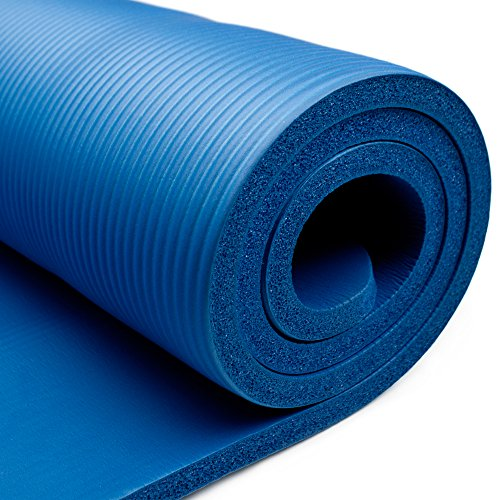 Crown Sporting Goods 3/4-Inch Extra Thick Yoga Mat with No