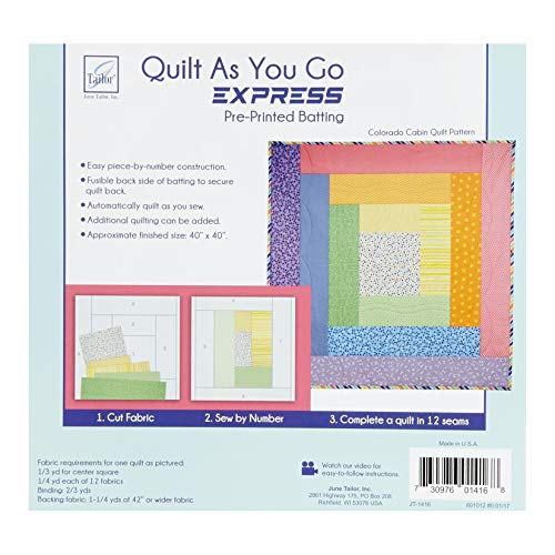 June Tailor Quilt As You Go Express Colorado Cabin Quilt Pattern