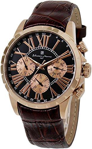 Salvatore Marra watch leather belt watch men's SM15103-PGBK