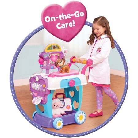 Disney Doc McStuffins Hospital Care Cart kids Comes Budding young Doctors Interchangeable X-ray card]()