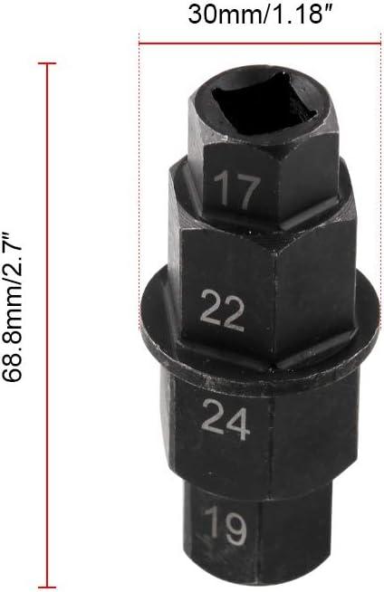 "Hex Allen Front Wheel Hub Axle Spindle Socket Adapter Tool 3//8/"" Inch 17mm 22mm Motorcycles Hex Axle Tool 19mm 24mm"