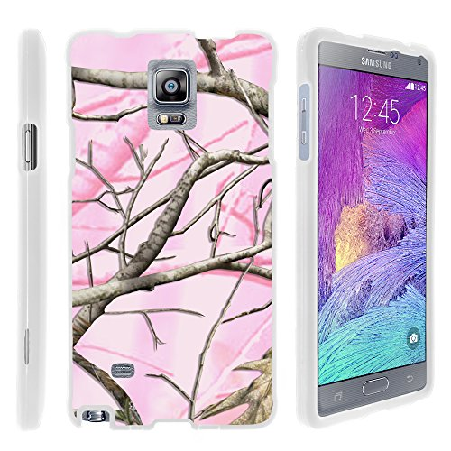 Note 4 Case, Slim Armor Snap On Hard Case Combo for Samsung Galaxy Note 4 SM-G910 (AT&T, Sprint, T Mobile, US Cellular, Verizon) from MINITURTLE   Includes Clear Screen Protector and Stylus Pen - Pink Hunter Camouflage