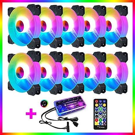 Cool Fan Month Jade Bracelet RGB Case Fan 12cm Desktop PC Heat Dissipation Fan Symphony Color Changing Eclipse Mute