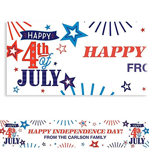 HollyDel Custom 4th of July Patriotic Banner | Custom Banners | 4th of July Decorations & Accessories