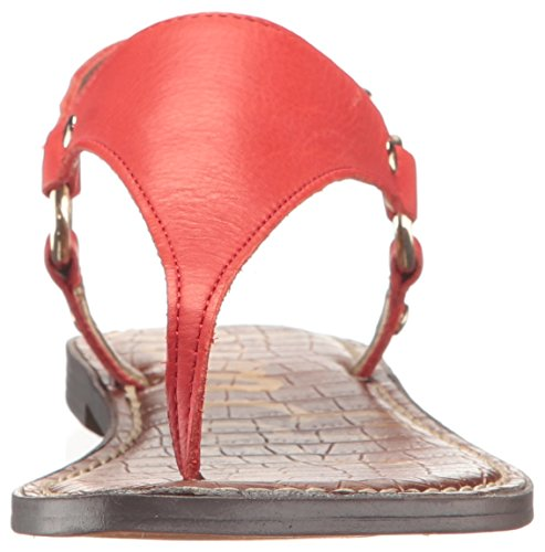 Havana Sam Bride Edelman Sandales Greta Red Leather Femme arrière AWOYWapcU