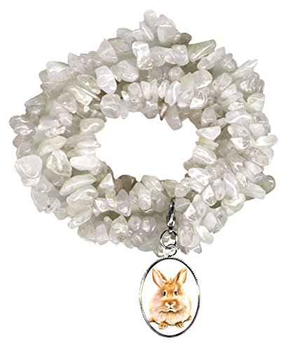 Gw1 Costumes (Bunny Rabbit Charm Clip Clear Quartz Gem Wrap Bracelet or Necklace)