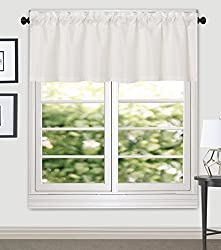 Aiking Home Crystal Jacquard Window Valance, 56 By 16 Inches