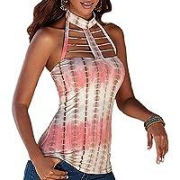 De la Mujer Fashion Halter Crop parte superior Custom Backless Hollow Out Tank parte superior Blusa