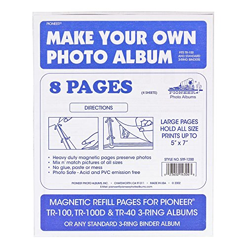 Pioneer Magnetic Refill Pages TR-100, TR-100D and TR-40 (8 Pages)