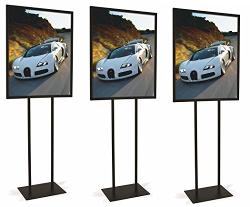 Black Bulletin 22''W x 28''H Sign Holder (Set of 3) by Only Garment Racks