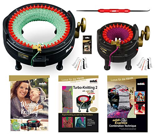 I Want IT All - MEGA PRO Set - Two addi Knitting Machines with Pattern Books and Accessories ()