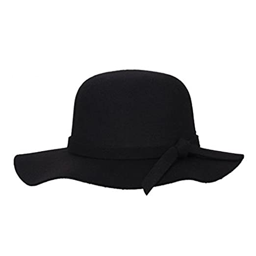 67982d6ee1c334 Girls Floppy Hat, Dealzip Inc? Vintage Style Kids Girls Wide Brim Wool Felt  Bowler