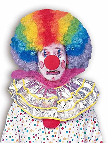 Adult Afro Wig (Forum Novelties Men's Jumbo Rainbow Clown Costume Wig, One Size)