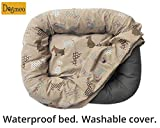 Waterproof designer Dogmeo dog bed. Washable cover. L size.