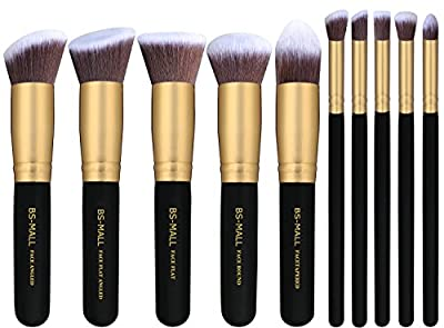 BS-MALL(TM) Premium Synthetic Kabuki Makeup Brush Set Cosmetics Foundation Blending Blush Eyeliner Face Powder Brush Makeup Brush Kit