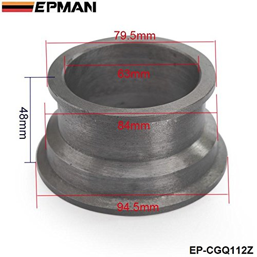 EPMAN 2.5' V-Band to 3' V-Band Turbo Downpipe Flange Adapter Conversion Kit Cast Iron EP-CGQ112Z Bo Luo