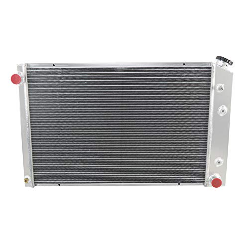 OzCoolingParts 4 Row Core Aluminum Radiator for 1973-1991 1974 75 76 77 85 86 GMC Chevy C/K/P/R/V Series C10 C20 C30 K10 K20 K30 C25/C2500 Pickup/K25/K2500 Suburban Pickup Trucks and More Models, V8