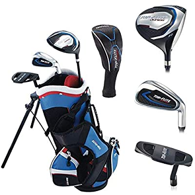 Top Flite Jr. Young Boys Compete Golf Set - Age 2 to 5 Height 45'' and Under - RH/LH