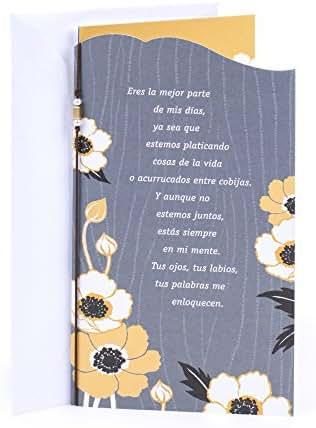 Hallmark Vida Spanish Love Greeting Card (Woodgrain Flowers)
