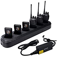 NKTECH 6-Way Six-Way Universal Rapid Multi Charger For BaoFeng Pofung BF-888S BF-777S BF-666S Two-Way Radio Walkie Talkie