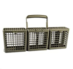 LG 5005DD1001A Silverware Basket Assembly with Handle. Gray plastic. Each compartment has a flip-top. For use with the following LG Electronics models: LDS5811BB, LDS5811ST, LDS5811WW, LDF7810WW, LDS4821WW, LDF8812ST, LDF7810ST, LDS4821ST, LD...