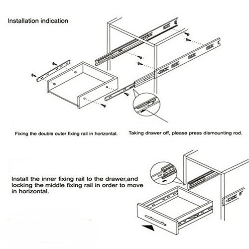 Gobrico Rear Mount Drawer Slides+Brackets Full Extension Heavy Duty Soft Close 18 Inch,10 Pairs Sets by Gobrico (Image #4)