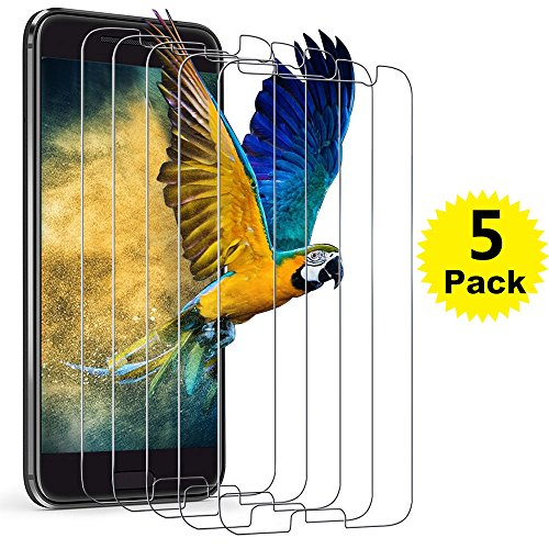HTC 10 Screen Protector, [5-Pack] BlingFilm Compatible HTC 10 [ Tempered Glass ] Screen Protector [Value-Pack] (Best Tempered Glass Screen Protector For Htc 10)