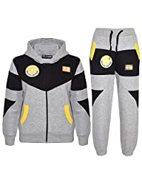 Kids Tracksuit Boys Deluxe Edition Badged Hoodie Bottom Jogging Suit 7-13 Years