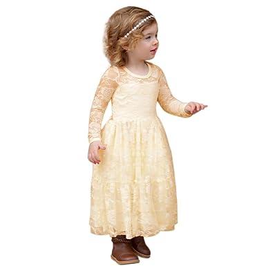 Prinzessin Kleid,Binggong Kleinkind Kinder Mädchen Langarm ...