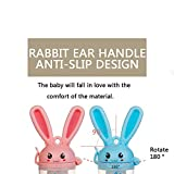 COFFLED Cute Rabbit Teeth Nipper for Fresh Food, Fruit and Vegetables , Infant Baby Food Feeder for Boys and Girls