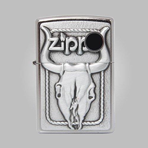 Bull Skull Zippo Lighter - Zippo 20286 Bull Skull/Lighter Made in USA /USA Version