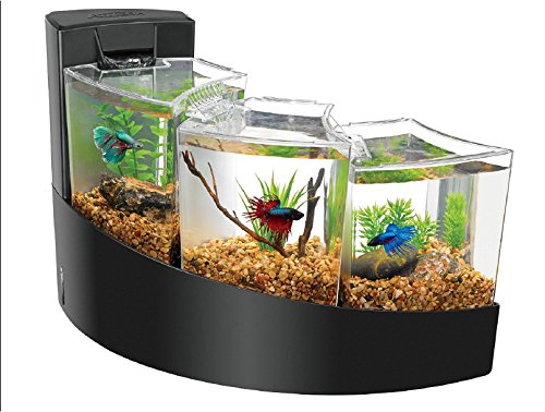 Aquarium Lighted Fish Tank - Aqueon Betta Falls Kit Black