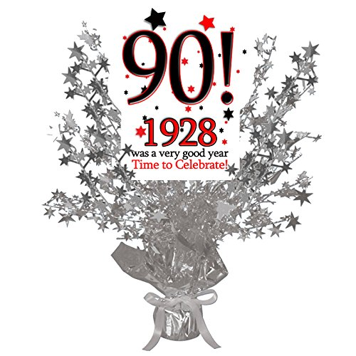 Partypro 1928-90TH BIRTHDAY SILVER STAR CENTERPIECE (Centerpiece Ideas For Birthday Tables)