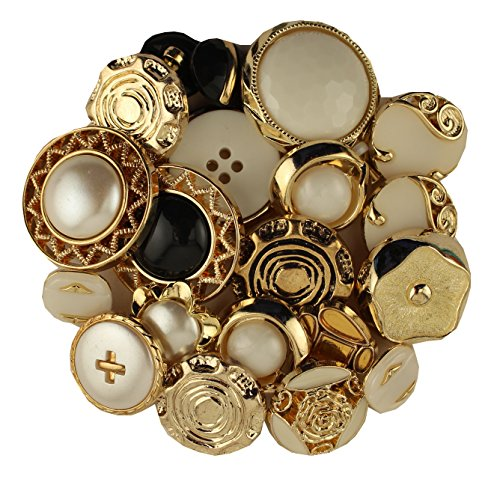 Gold & Silver Vintage Style Buttons ()