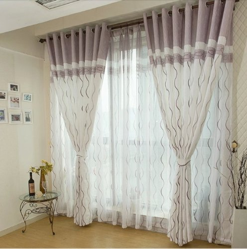 FADFAY Home Textile,Custom Made Curtains,Modern Living Room Curtains,Brief Stripes Waves Curtain,Luxury Jacquard Curtains,2Panels