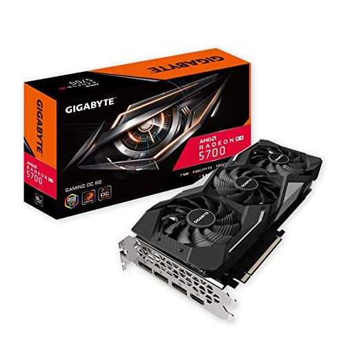 Gigabyte Radeon Rx 5700 Gaming OC 8G Graphics Card, PCIe 4.0, 8GB 256-Bit GDDR6, Gv-R57GAMING OC-8GD Video Card