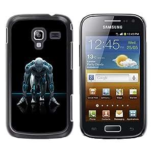 TopCaseStore / la caja del caucho duro de la cubierta de protección de la piel - Android Humanoid Robot - Samsung Galaxy Ace 2 I8160 Ace II X S7560M