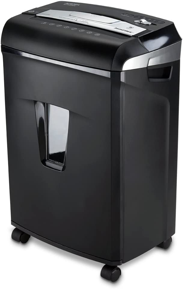 Aurora JamFree AU1235XA 12-Sheet Cross-Cut Paper / Credit Card Shredder with Pull-Out Wastebasket,Black/silver