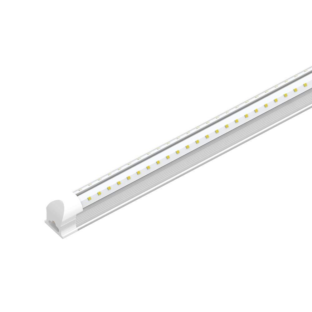 LEDMyplace 4 FT LED Shop Light, 22Watt Replacement (60W), 6500K Clear Lens, V-Shape Integrated Tube, ETL Certified, Ideal for (Garage Lighting, Shop Lighting, etc)