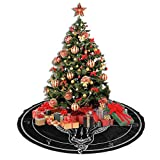 "Allgobee 48"" Christmas Tree Skirt Baphomet"